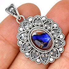 Bali Design - Boulder Opal 925 Sterling Silver Pendant Jewelry PP185334