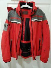 Waterproof Capranea Mens Jacket Windproof Bomber 9 Pockets Red Gray Size 48