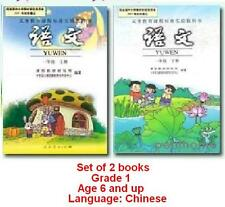 2 Books Chinese Schoolbook Textbook PinYin Hanzi Book Primary School Grade 1