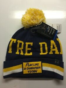 Notre Dame Winter Beanie Hat Play Like a Champion PLACT NWT Under Armour