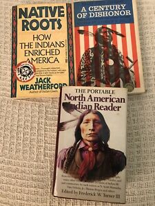 SET3 BKS,PORTABLE NORTH AMERICAN INDIAN READER/CENTURY OF DISHONOR/NATIVE ROOTS
