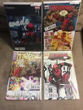 Deadpool #1 Variant Lot of 4 (1b Koblish, 1c Hip Hop, 1d Johnson, 1h 1:25 Shirah