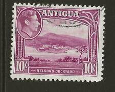 More details for antigua sg108 kgvi 10s magenta fine used cat £38 uk p&p free £1 worldwide