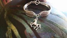 Vintage Fashion Upcycled Antique Silver Plate Spoon Bracelet / HORSE / PONY
