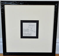 """ANDY WARHOL~ORIGINAL SIGNED """"SOUP CAN"""" DRAWING, FRAMED ~ WITH PSA LOA/COA"""