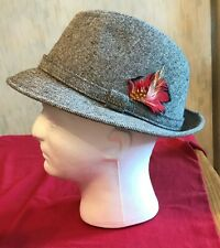 Vintage Stetson Trilby w/Feather - Large (71/8 - 73/8) - Made in the Usa - J.J.H