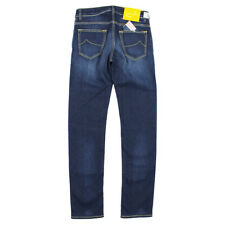 Jacob Cohen - J622 Yellow Badge Jeans in Dark Blue - W30 - RRP £350