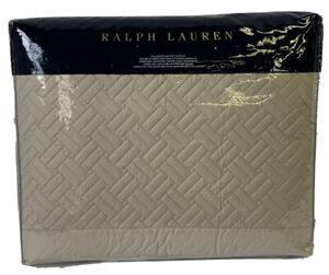 RALPH LAUREN Full/Queen Quilted Coverlet NWT Greenwich Vintage Silver MSRP $355