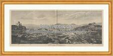Panorama von Athen Griechenland Pentelikon Akropolis Sternwarte Holzstich C 2376