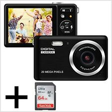 HD Digital Camera Rechargeable Compact 20 MP With 32GB Memory 2.8