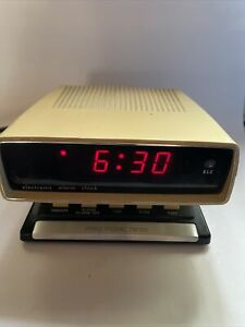 VINTAGE 70s PRINZTRONIC TM 120 ELECTRONIC LCD SPACE AGE ALARM CLOCK WORKING