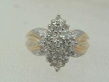 10 karat diamond ring - new 10K solid yellow gold ladies 0.50 carat diamond ring