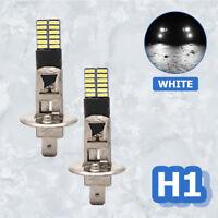 UK 2x H1 24SMD 4014 LED Bulb Fog Lights Driving DRL Beam Bulbs LightReplace Bulb