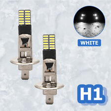 2X H1 24LED 4014-SMD Coche Headlight Kit Luz Bombillas Lámpara 6500K DRL Blanco