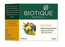 12g, Biotique Bio Fruit Whitening Lip Balm Lightens and Evens-Out Lip Tones Fs