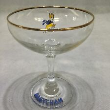Vintage Retro 1970 Babycham Glass Yellow Fawn Deer Bar Advertising Party Glasses