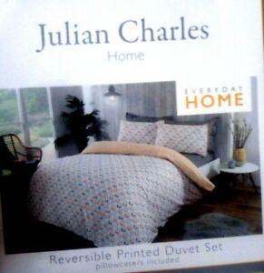 JULIAN CHARLES HOME 🏡REVERSIBLE 😴PRINTED DUVET COVER💤PILLOWCASE INCLUDED