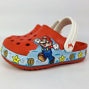 Crocs Super Mario Light Up Slides Size 7C Toddler Red Nintendo Kids
