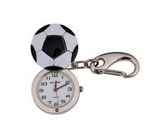 Klox Football Shape Pocket Key Ring Silver Watch Analog Quartz Japanese Movement