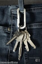 Mas Design Premium Grade 5 Titanium Key Carabiner - K11Hand Brushed Finish