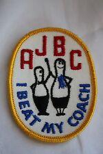 Vintage AJBC I Beat My Coach Oval Bowling Patch