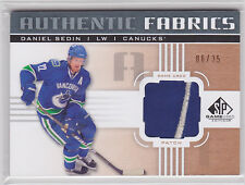 2011 11-12 SP Game Used Authentic Fabrics Patches #AFDS Daniel Sedin 6/35