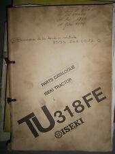 ISEKI tracteur TU 318 FE : parts catalogue 1988