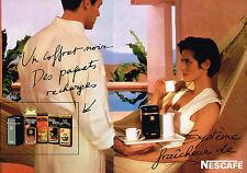 PUBLICITE ADVERTISING 044  1986  NESCAFE   café  boite recharges ( 2 pages)