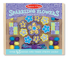 Fun!Melissa & Doug Sparkling Flowers Wooden Bead Set # 9494