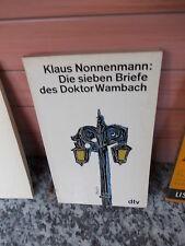 Die sieben Briefe des Doktor Wambach, von Klaus Nonnenmann, aus dem dtv Verlag