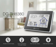 Touch Screen Hygrometer Thermometer Weather Station CLock Wireless Sensor