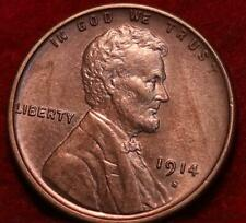 Uncirculated Red 1914-S San Francisco Mint Copper Lincoln Wheat Cent