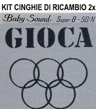 KIT CINGHIE DI RICAMBIO 2 x PROIETTORE GIOCA BABY SOUND 50/N SUPER 8 mm ★