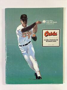 Baltimore Orioles 1990 Official Program And Scorecard With Game Insert Ripken Cv