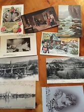9 mixed old postcards