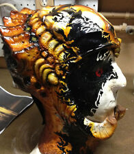 PREDATOR AVP FEMALE / SMALL 1/2 MASK  - RAW LATEX CAST- LIFE SIZE FOR COSTUME
