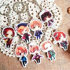 8pcs Set APH Axis Powers Hetalia Wang Yao China Acrylic Pendant Keychain Keyring