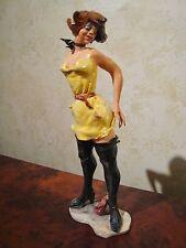 "RARE Italian Ceramic Figurine-""STREET WALKER BLACK BOOTS"" ALDO CIOLLI- Firenze"