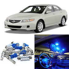 For 2004-2008 Acura TSX Premium Blue LED Interior Lights Kit 9 Pieces