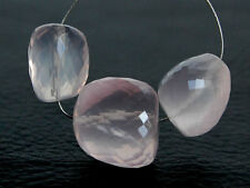 Natural Pink Rose Quartz Faceted Oval Nugget Semi Precious Gemstone Beads 012
