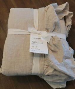 Pottery Barn Belgian Flax Linen Duvet Cover - Brand New