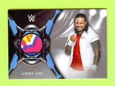 """2018 Topps Wrestlemania """"Silver"""" Multi-Color Jimmy Uso Event Worn Shirt #19/25"""