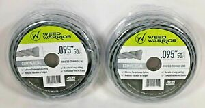 NEW WEED WARRIOR COMMERCIAL TWISTED TRIMMER LINE .095 X 50' LENGTH LOT OF 2
