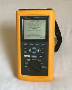 Fluke Networks DSP-4300 CAT5/CAT5e/CAT6 Cable Analyzer W/Charger And Hand Strap