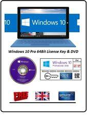 Microsoft Windows 10 Professional 64Bit Pro Version DVD & License Activation Key