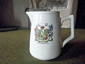 Vintage Albion Crested Small China Cream Jug Thornhill 8 c m High