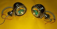 PAIR NEW ROYAL ENFIELD COUNTY CHROME FOG LIGHT LAMPS 4""
