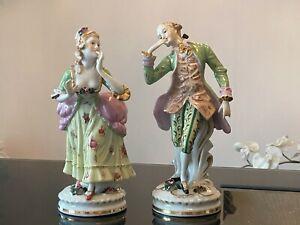 """Antique Dresden Figurine Porcelain """"A Couple"""""""