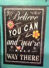 """Small 12 1/2"""" x 18"""" Believe You Can Spring Garden Art Flag New In Package"""