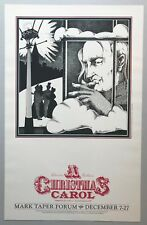 A CHRISTMAS CAROL 1980 Window Card / Poster Mark Taper Forum - Los Angeles, CA
